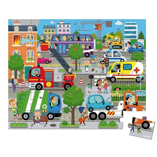 Janod speelgoed Janod Puzzle Stadt 36-Teilig +4 Jahre
