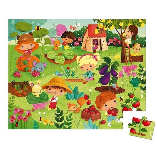 Janod speelgoed Janod puzzel tuin 36st +4jr