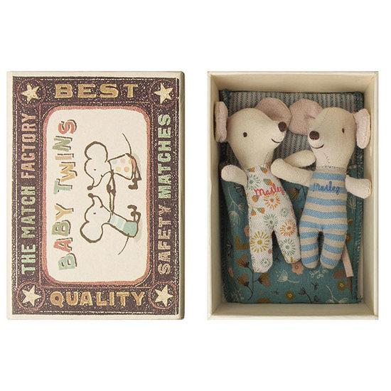 Maileg Maileg Baby Mäuse Zwillinge blau in Schachtel