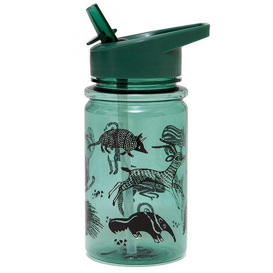 Petit Monkey Trinkflasche Schwarze Tiere Salbei - Petit Monkey