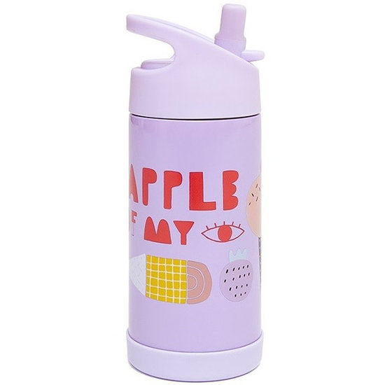 Petit Monkey Drinkfles RVS Apple of my eye - Petit Monkey