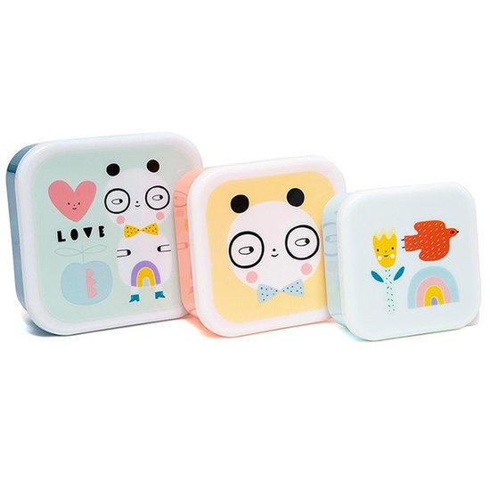 Petit Monkey Snackdoosjes Panda Love - Petit Monkey