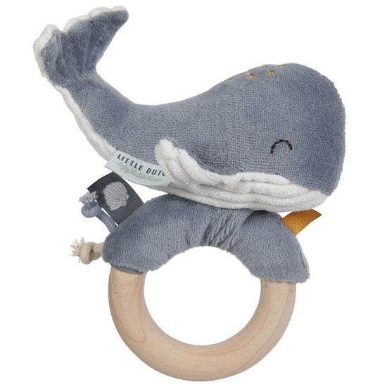 Little Dutch Ringrammelaar walvis Ocean blue - Little Dutch