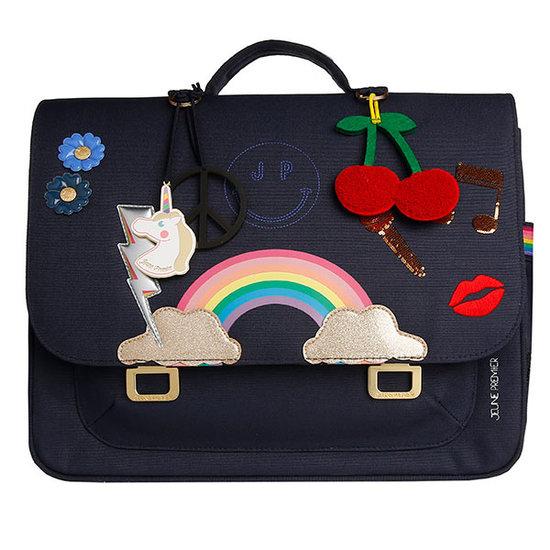 Jeune Premier boekentas School bag Midi Lady Gadget Blue - Jeune Premier