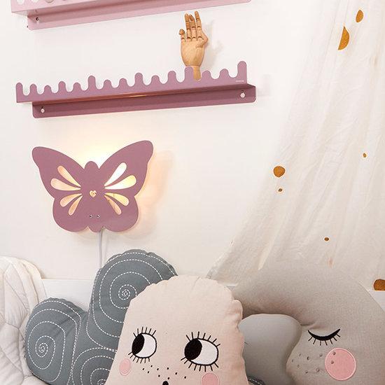 Roommate Wandplank Doodle Drop Pale Rose - Roommate