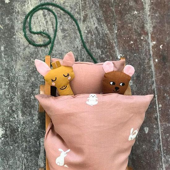 Roommate Puppenbett Bettwäsche Rabbit - Roommate