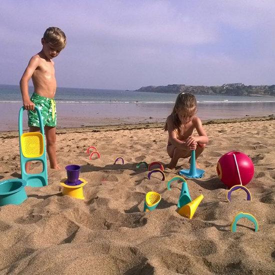 Quut Quut Triplet Lagoon Green jouets de plage 4 en 1