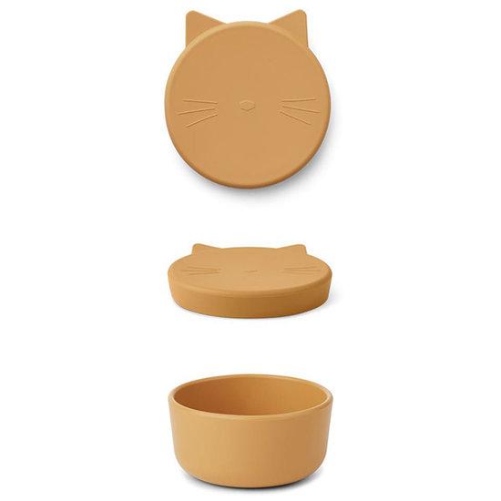 Liewood Liewood Cornelius snack box Cat yellow mellow