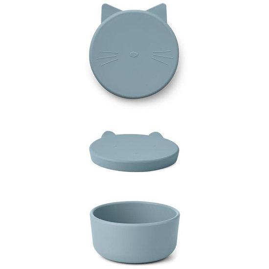Liewood Liewood Cornelius snackdoosje Cat sea blue
