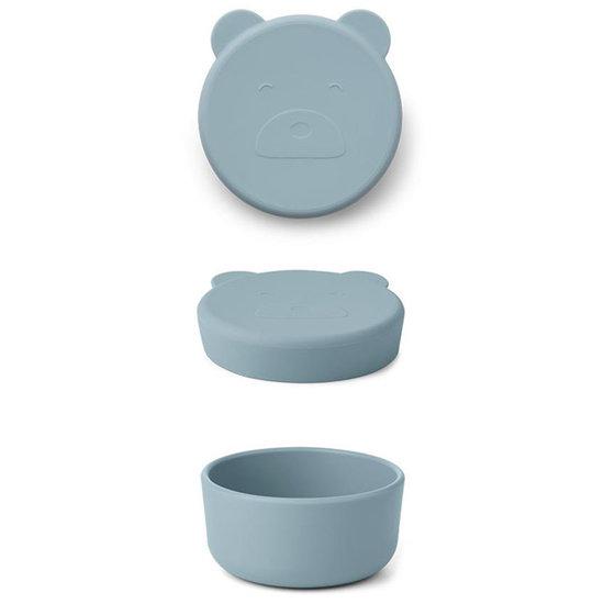 Liewood Liewood Carrie snack box Mr Bear sea blue