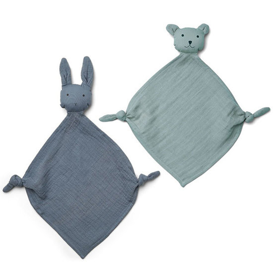 Liewood Liewood Yoko mini cuddle cloths Blue mix