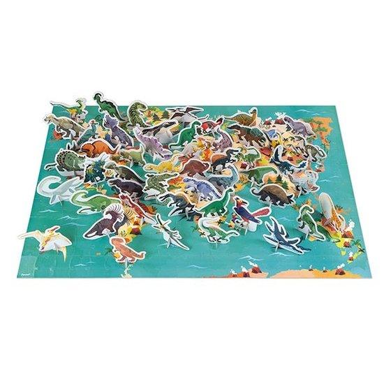 Janod speelgoed Janod puzzel dinosaurussen 200st +6jr