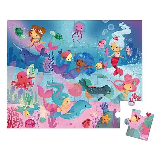 Janod speelgoed Janod puzzel zeemeerminnen 24st +3jr