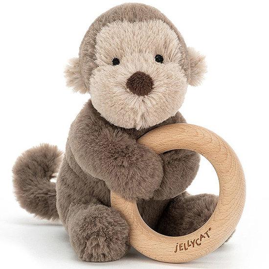 Jellycat Bijtring - rammelaar Shooshu Monkey - Jellycat