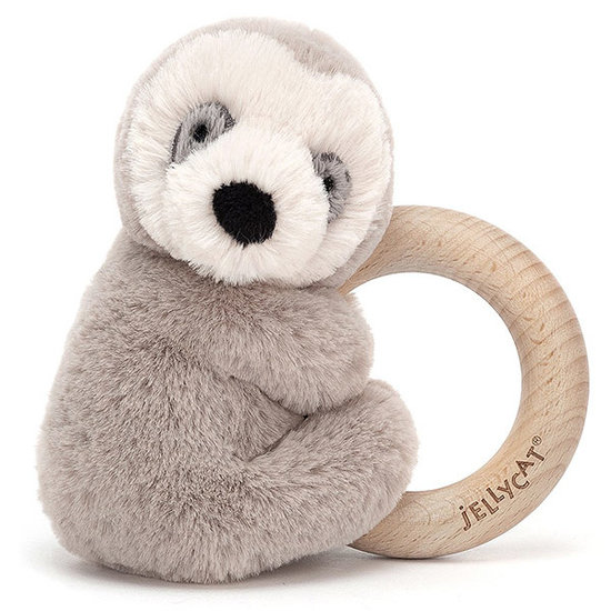 Jellycat Bijtring - rammelaar Shooshu Sloth - Jellycat