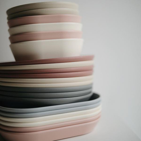 Mushie Mushie ronde borden set van 2 - Smoke