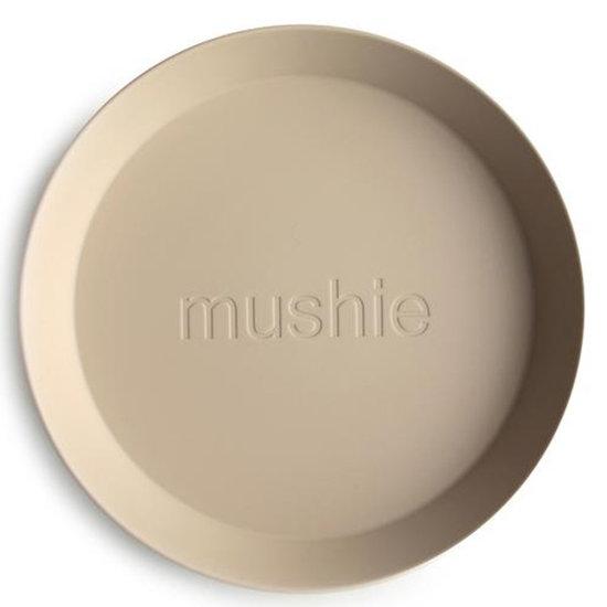 Mushie Mushie ronde borden set van 2 - Vanilla