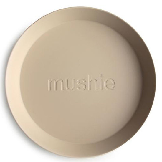Mushie Mushie runde Geschirr Teller 2er Set - Vanilla