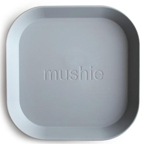 Mushie Mushie vierkante borden set van 2 - Cloud