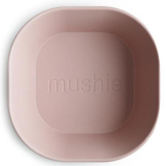 Mushie Mushie vierkante kommen set van 2 - Blush