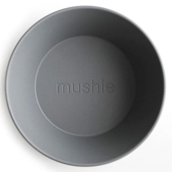 Mushie Mushie runden Schalen 2er Set - Smoke