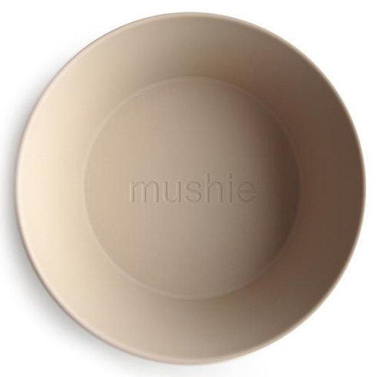Mushie Mushie ronde kommen set van 2 - Vanilla