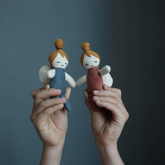 Fabelab Popje Pocket Friend Bunny Foggy Blue - Fabelab