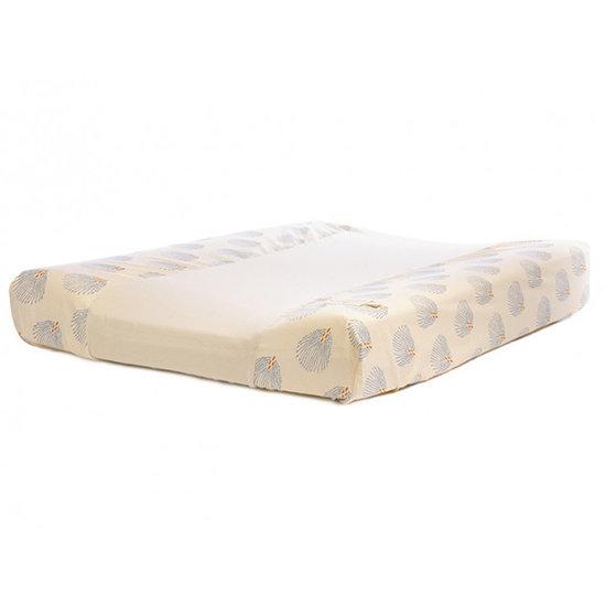 Nobodinoz tipi en accessoires Changing pad cover Blue Gatsby - Cream - Nobodinoz