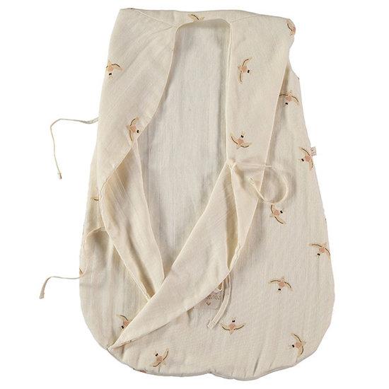 Nobodinoz tipi en accessoires Nobodinoz Dreamy summer sleep bag Nude Haiku Birds