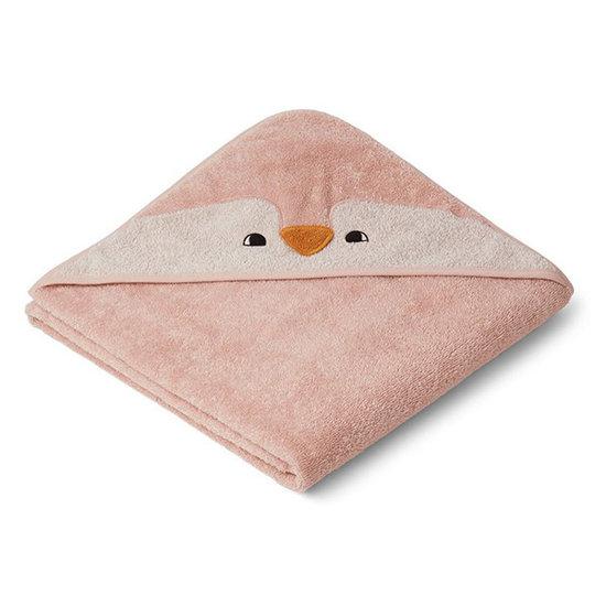 Liewood Baby towel Augusta Penguin rose 100cm Liewood