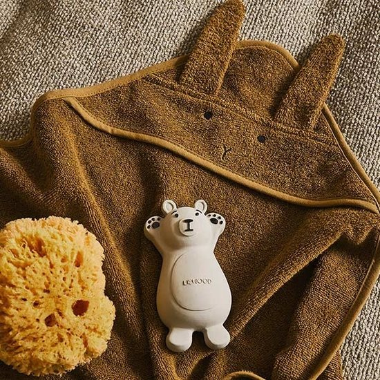 Liewood Baby towel Albert Rabbit olive green 70cm - Liewood