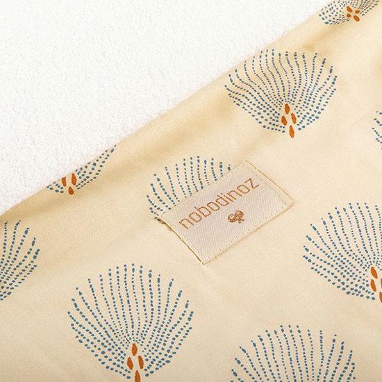 Nobodinoz tipi en accessoires Changing mat Blue Gatsby - Cream - Nobodinoz