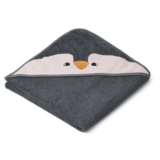 Liewood Kapuzenhandtuch Augusta Penguin Grey - Liewood