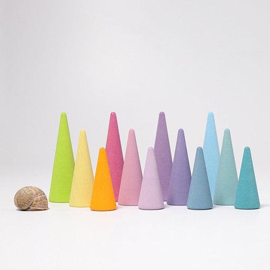 Grimm's Grimm's regenboog bos pastel - set van 12