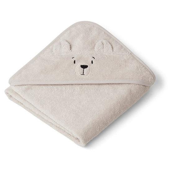 Liewood Cape de bain bébé Albert Polar Bear sandy - Liewood
