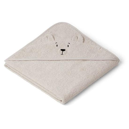 Liewood Baby towel Augusta Polar Bear sandy 100cm Liewood
