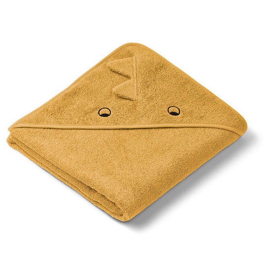 Liewood Baby towel Augusta Dino yellow mellow 100cm Liewood