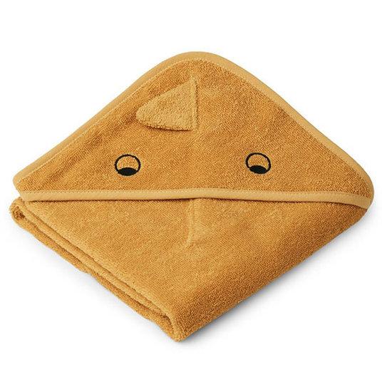 Liewood Baby towel Albert Dino yellow mellow 70cm - Liewood