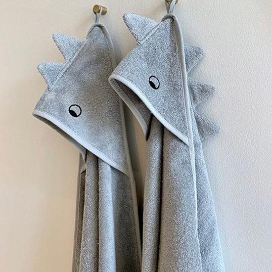 Liewood Baby towel Albert Dino dove blue mix 70cm - Liewood