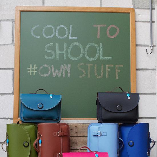 Own Stuff Own Stuff leather toddler school bag octane