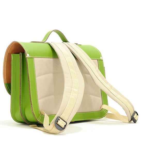 Own Stuff Own Stuff leather school bag army