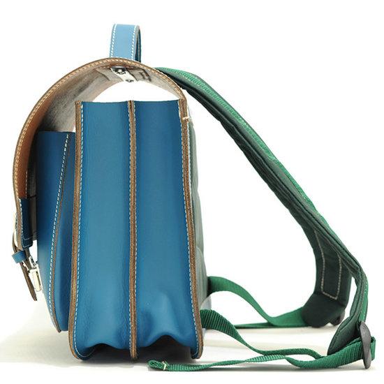 Own Stuff Own Stuff leather school bag seagreen