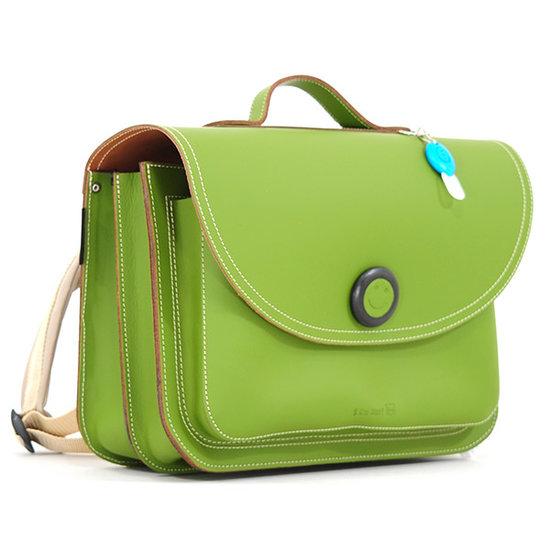 Own Stuff Own Stuff leather school bag army magnetic lock