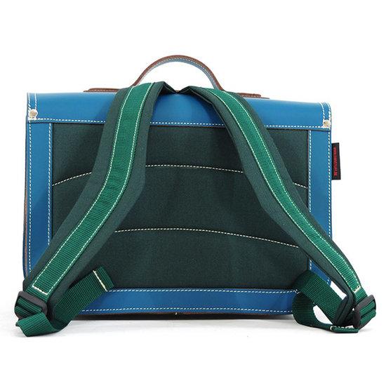 Own Stuff Own Stuff leather school bag seagreen magnetic lock
