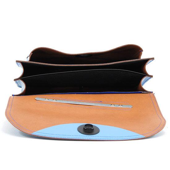 Own Stuff Own Stuff leather school bag octane magnetic lock