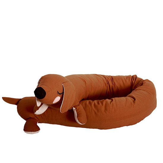Roommate Soft toy Lazy Long Dog brown - Roommate
