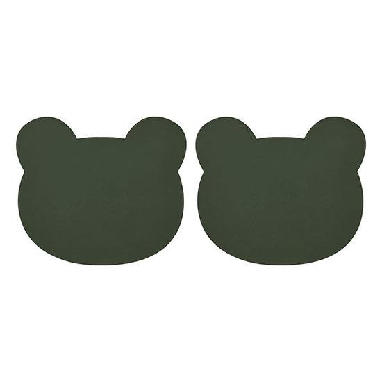 Liewood Liewood Gada placemat Mr Bear hunter green 2 stuks