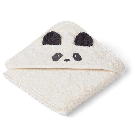 Liewood Badcape Albert Panda creme 70cm - Liewood