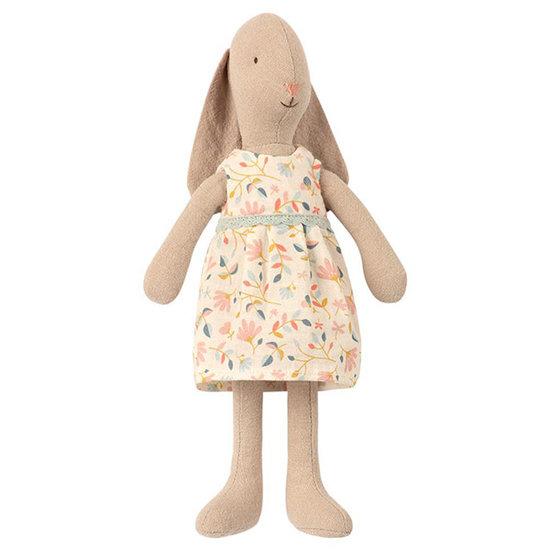 Maileg Maileg konijn Mini light Bunny flower dress roze