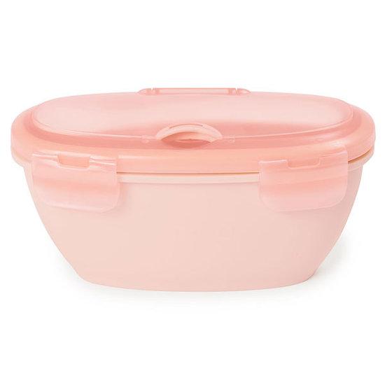 Skip Hop Skip Hop Easy-Serve bowl and spoon Grey-Soft coral